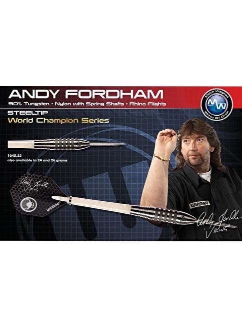 Winmau Andy Fordham %90 Tungsten Çelik Uçlu Dart-26 Gram Renkli